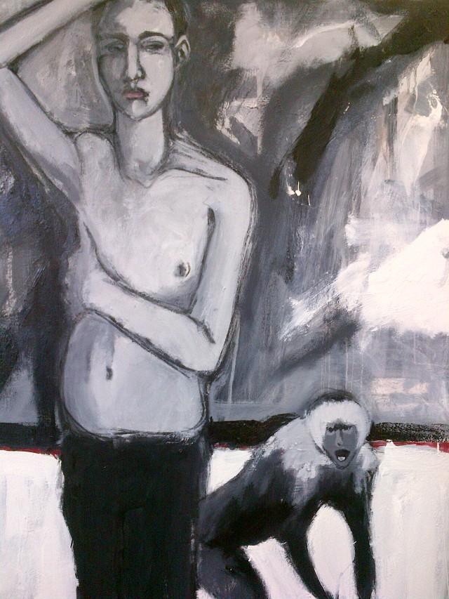 10.''Monkeys'' 36x48'' oil on canvas                                       $1200.00