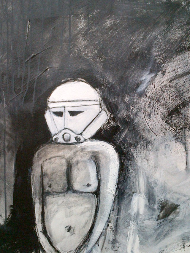 2.''Starman'' 27.5x30'' paint and charcoal on paper              unframed -$200.00