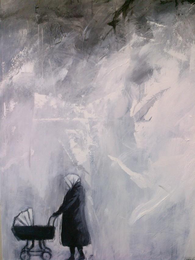 4.''Winter walk'' 36x48'' oil on canvas                                        $1200.00